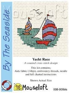 Mouseloft Yacht Race By The Seaside cross stitch kit